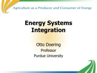 Energy Systems Integration