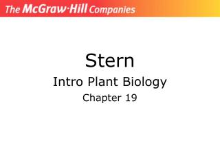 Stern Intro Plant Biology Chapter 19