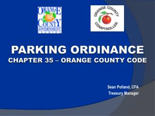 Parking ordinance Chapter 35 � Orange County Code