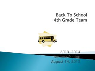 Back To School 4th Grade Team