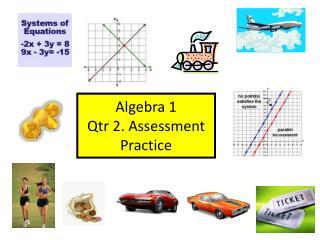 Algebra 1 Qtr 2. Assessment Practice