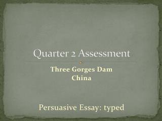 Quarter 2 Assessment
