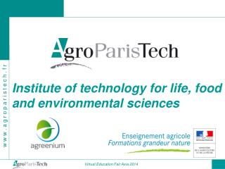 Institute of technology for life, food and environmental sciences