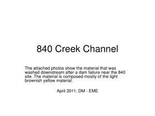 840 Creek Channel
