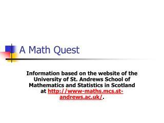 A Math Quest
