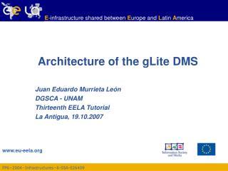 Architecture of the gLite DMS