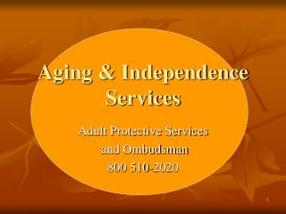 Aging & Independence Services