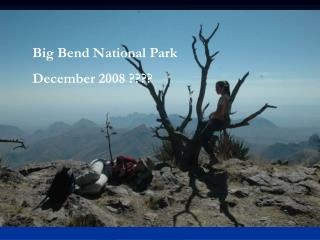 Big Bend National Park December 2008 ????
