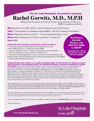 Rachel Gorwitz, M.D., M.P.H