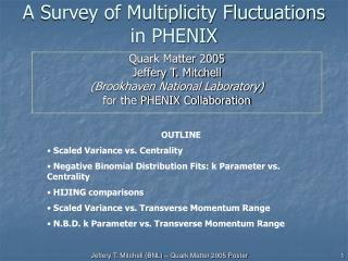 A Survey of Multiplicity Fluctuations in PHENIX
