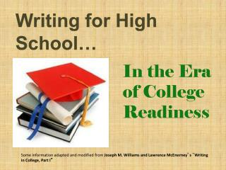Writing for High School…
