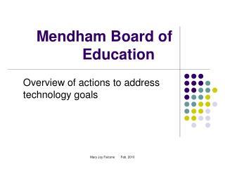 Mendham Board of Education