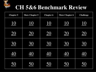 CH 5&6 Benchmark Review