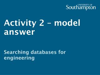 Activity 2 – model answer