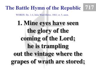 The Battle Hymn of the Republic (1)