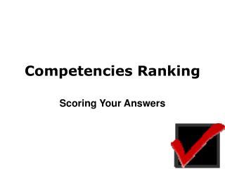 Competencies Ranking