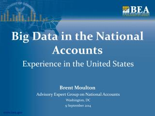 Big Data in the National Accounts