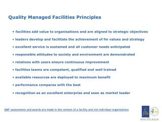 Quality Managed Facilities Principles