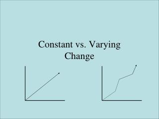 Constant vs. Varying  Change
