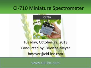 CI-710 Miniature Spectrometer