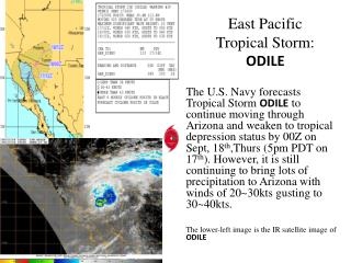 East Pacific  Tropical  Storm: ODILE