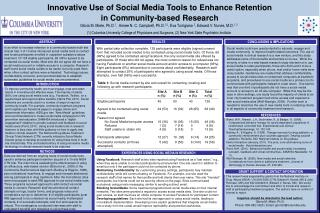 Innovative Use of Social Media Tools to Enhance Retention in Community-based Research