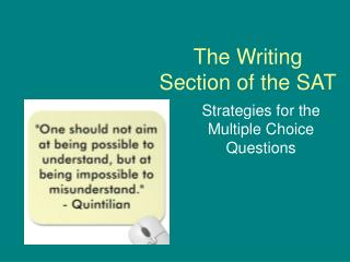 The Writing Section of the SAT