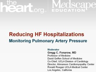 Predictors of HF Hospitalization