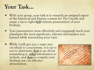 Your Task�