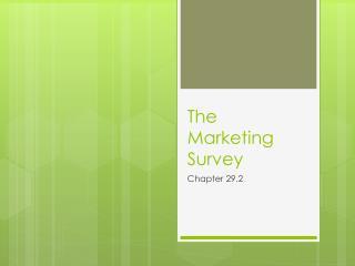 The Marketing Survey