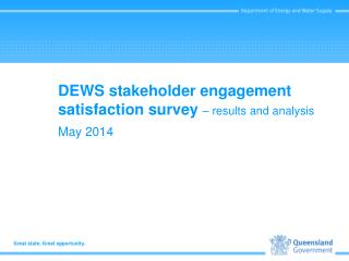 DEWS stakeholder engagement satisfaction survey  � results and analysis