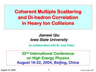 Coherent Multiple Scattering and Di-hadron Correlation in Heavy Ion Collisions