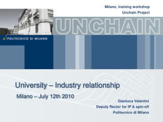 University – Industry relationship
