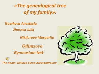 «The genealogical  tree of  my family».