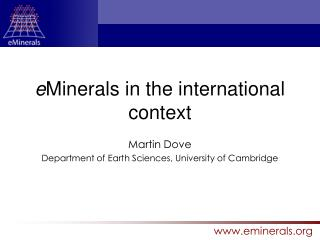 e Minerals in the international context