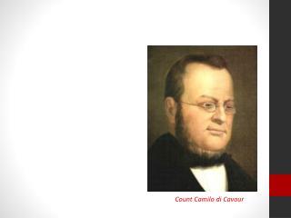 Count Camilo di Cavour