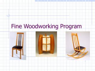 Fine Woodworking Program