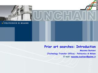 Prior art searches: Introduction Massimo Barbieri