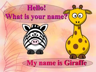 Hello!  What is your name?