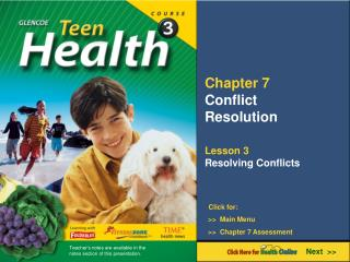 Chapter 7 Conflict  Resolution