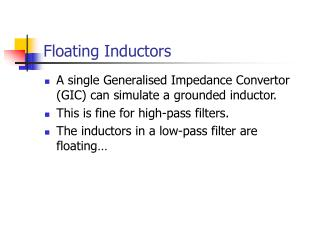 Floating Inductors