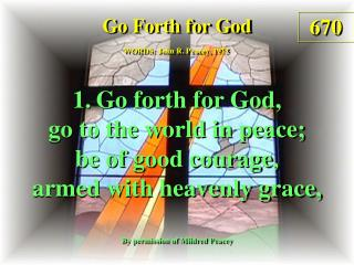 Go Forth for God (1)