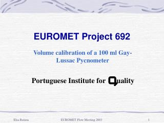 EUROMET Project 692