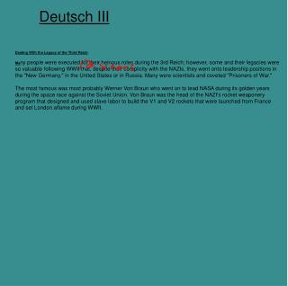 Deutsch III