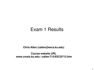 Exam 1 Results