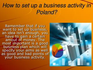 How to set up a business activity in Poland?