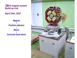 QEA magnet system Build up trial April 24th, 2007