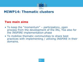 MIWP14: Thematic clusters