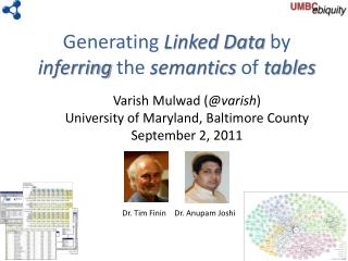 Generating  Linked Data  by  inferring  the  semantics  of  tables