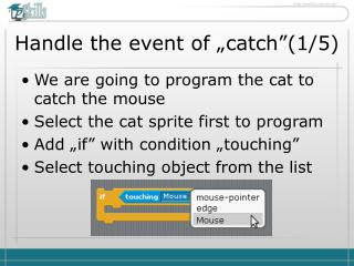 "Handle the event of ""catch"" ( 1 / 5 )"